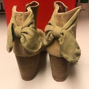 Green Suede Booties